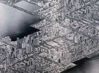 City on the Sea Stadt am Meer (Ciudad en el mar) thomas bayrle